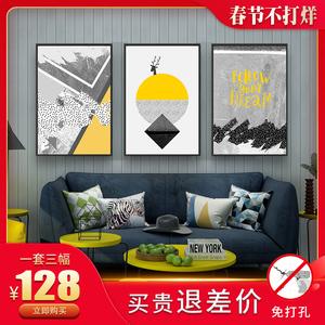 新中式客厅玄关<span class=H>装饰画</span>沙发背景墙画餐厅壁画卧室床头挂画走廊油画