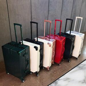 行李箱<span class=H>拉杆箱</span>女万向轮旅行密码箱24寸男网红20韩版铝框复古<span class=H>皮箱子</span>