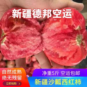 新疆西红柿新鲜<span class=H>水果</span>包邮纯天然甜沙瓤大番茄孕妇新鲜蔬菜空运5斤