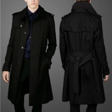 Spring and Autumn New Personality Self-cultivation Single-breasted Men's Windswear 2018 Business Leisure Long-style Overcoat