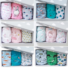 2018 Korean genuine cogibee children's cotton underwear baby triangular underwear boys and girls gift box 3 pieces