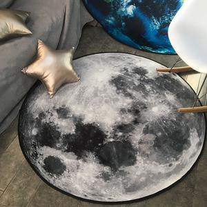 潮牌圆形<span class=H>地毯</span>个性创意地球月球3D打印<span class=H>地毯</span>电脑椅垫吊篮<span class=H>地毯</span>可水洗