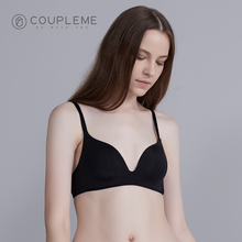 COUPLEME Underwear Women's Ring-free Summer Thin Small Chest Gathering Sexy Beautiful Back Bra Seamless Invisible Accessory