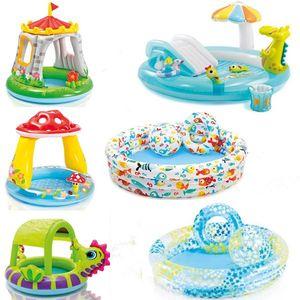 充气<span class=H>游泳池</span>戏水池小型便捷婴幼儿澡盆家庭儿童乐园户外宿舍浴桶折