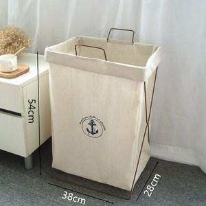 脏衣服收纳筐简约卧室家用小清新床边放脏衣袋洗衣栏脏字篮折叠