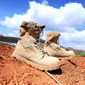 卓尼维斯户外自制徒步牛皮登山鞋沙漠防滑耐磨马丁靴高帮靴男女式