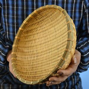 竹编筐簸箕水果篮盘馒头筐沥水篮子洗菜沥水餐具<span class=H>厨房</span>收纳框家用