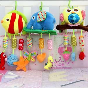 新生婴儿玩具0-1岁<span class=H>推车</span>挂件床挂饰床头铃宝宝摇铃<span class=H>动物</span>造型风铃