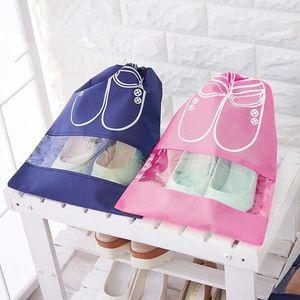 收口鞋包杂物加大差旅家用鞋盒收纳塑料10个装旅行鞋套短靴布袋床