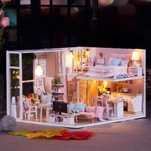 摆设手工小屋温馨小屋送老婆自制材料少女闺密走心精美模型