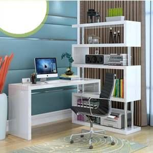 电脑桌写字桌旋转电脑桌办公桌卧室电脑桌转角电脑桌<span class=H>书桌</span>笔记本电