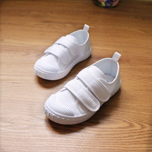 儿童白布<span class=H>鞋</span>帆布<span class=H>鞋</span>学生白色运动会<span class=H>鞋</span>幼儿园室内<span class=H>鞋</span>子男童女童白球<span class=H>鞋</span>