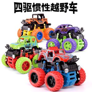 儿童宝宝惯性四驱越野车耐摔2-5岁男孩特技小<span class=H>汽车</span>模型小孩玩具车