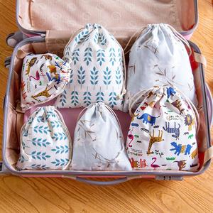 居家家 抽绳收纳袋束口袋衣服整理袋 旅行<span class=H>鞋子</span>收纳包衣物内衣袋子