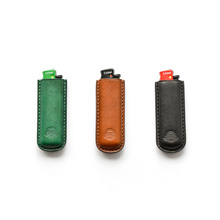 ONE LEATHER Vegetable Tanning Leather Cricket Lighter Cover Delivered to Original Lighter Gift Box