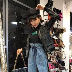 时尚潮流帅气外套2018冬装新款气质口袋加绒百搭长袖显瘦pu皮衣女