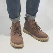 GBOY Winter Martin Boots, Men's Dermis Desert Workwear Shoes, Trendy Men's Boots, Japanese Youth Retro Army Boots