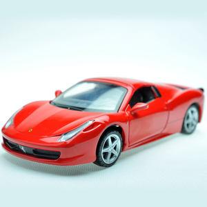 新品3岁4岁5岁黄色金属<span class=H>车模</span>仿真红色跑车儿童玩具车声光白色赛车