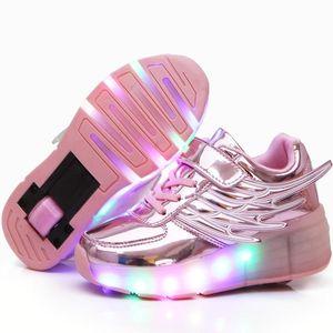 轮滑鞋可走路童女孩单轮闪灯爆走鞋成人滑轮鞋有轮子的运动儿童鞋