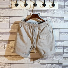 Chen Bangjia_Japanese and Korean Pure Pocket Decorative Shorts Men's Summer Loose and Leisure Tide