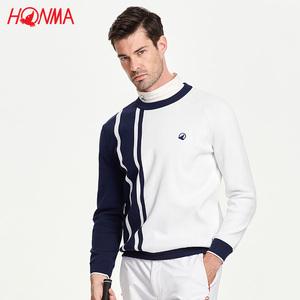 HONMA高尔夫<span class=H>服装</span>男士针织衫2018秋款GOLF运动休闲套头针织毛衫