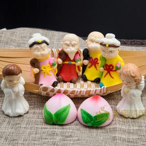 翻糖<span class=H>蛋糕</span>装饰糖<span class=H>公仔</span> 糖霜食用西点圣诞寿公寿婆寿桃 天使宝贝