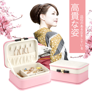 便携首饰盒公主欧式韩国日式可爱迷你旅行简约耳环<span class=H>珠宝</span>饰品收纳盒