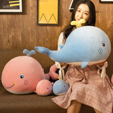 The net red whale doll plush toy cute dolphin trumpet accompanies you sleeping pillow puppet super girl