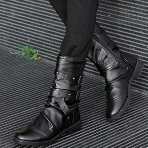 春秋新款英伦男靴子男士高筒靴韩版潮流冬季中筒马丁靴高帮男鞋子