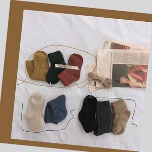 abao儿童羊毛<span class=H>袜子</span>冬季加厚保暖<span class=H>袜子</span>女童纯色中筒袜宝宝洋气堆堆袜