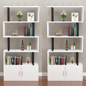 现代简约客厅柜子多功能小格子柜书柜简易自由组合落地<span class=H>书架</span>置物架