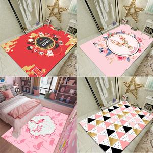 主播ins<span class=H>地毯</span>卧室网红可爱少女心公主粉色房间床边日系小仙女地垫