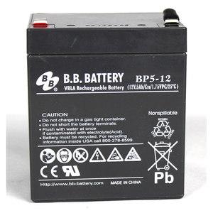 BB 美美铅酸免维护蓄电池BP5-12 12V5AH UPS电源APC SURT192XLBP