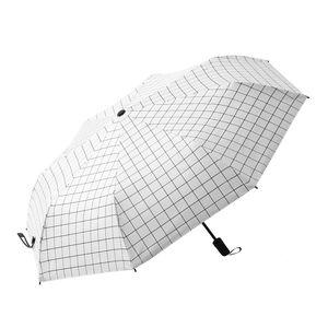 全自动雨伞<span class=H>太阳伞</span>三折叠超大晴雨两用男女伞黑胶遮阳防晒紫外线伞