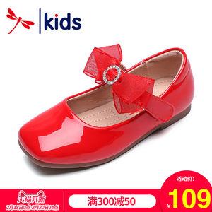 红蜻蜓童鞋2019春季新款女童休闲<span class=H>皮鞋</span>亮皮学生演出鞋韩版儿童单鞋