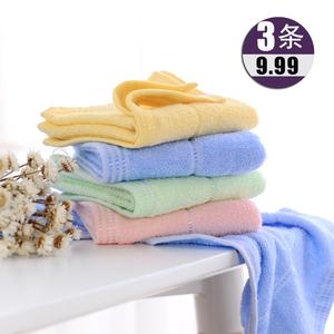 【3条装】竹棉童巾吸水儿童洗脸毛巾