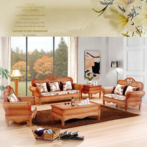 住宅<span class=H>家具</span>印尼藤藤沙发客厅时尚藤编桌椅简约时尚沙发组合藤椅沙发