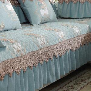 沙发垫四季通用<span class=H>欧式</span>布艺防滑家用坐垫子全包万能沙发套罩巾全盖