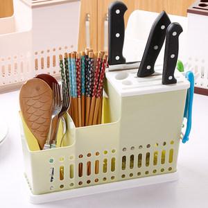 干净卫生装筷子的刀架收纳方便多功能刀座横放筷<span class=H>笼子</span>筷筒筷笼绿色