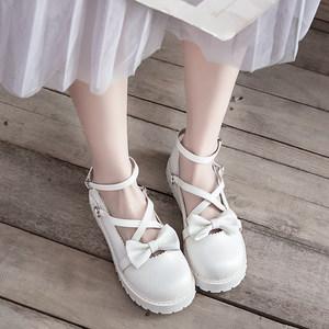 原创蝴蝶结洛丽塔lolita大头娃娃鞋森女学院风学生软妹平底小皮鞋