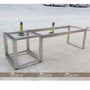 定制大板<span class=H>桌腿</span>架子 原木大板加粗加厚桌脚支撑架 实木办公台支架