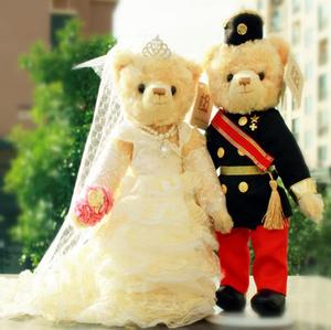 <span class=H>正品</span><span class=H>包邮</span>林海博婚纱<span class=H>泰迪熊</span>情侣对熊结婚公仔压床娃娃结婚礼物