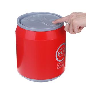 创意桌面<span class=H>垃圾桶</span>可爱易拉罐有盖垃圾筒家用按压式果皮收纳桶塑料桶