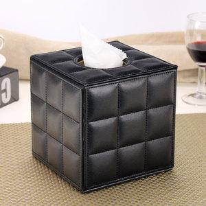 丽然 羊皮纹皮革纸巾筒盒 餐巾筒 卷纸套 欧式 抽纸创意可爱包邮