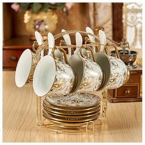 咖啡杯套装英式红茶杯<span class=H>陶瓷</span>水<span class=H>杯子</span>欧式茶具6件套家用办公室马克杯