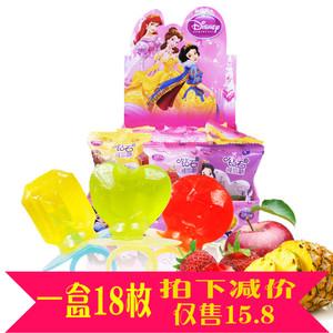 好心情迪斯尼公主系列水果钻石戒指糖18枚<span class=H>盒装</span>零食<span class=H>糖果</span>礼品
