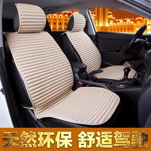 亚麻汽车坐垫 四季垫通用座垫 夏季简约防滑养生坐垫 车内饰用品