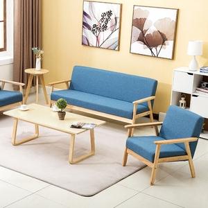 新款简易<span class=H>沙发</span>田园布艺双人单人<span class=H>沙发</span>椅小户型客厅实木简约日式<span class=H>沙发</span>