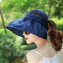 Hats, sunscreens, sunshades, eaves, beaches, sun hats, face shades, UV protection, traveling, folding and hair binding