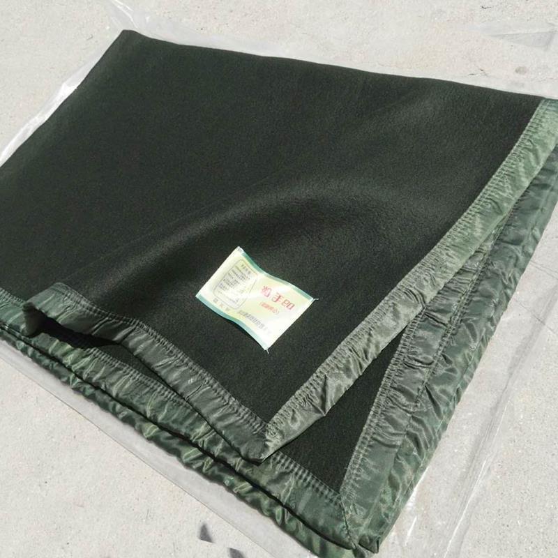毛毯被子加厚双人纯色用09全新加绒军绿色单人07式毛巾毯保暖 09